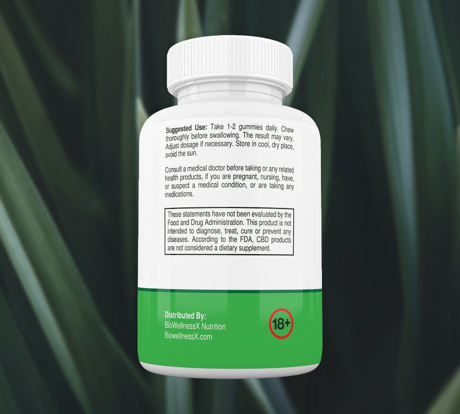 BioWellnessX CBD Gummies Suggested Use 1